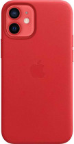 Чехол APPLE iPhone 12 mini Leather Case with MagSafe - (PRODUCT)RED (MHK73ZE/A)