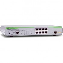 Коммутатор ALLIED TELESIS 8 x 10/100/1000Mbps port managed switch with 1 SFP uplink slot, Fixed AC power supply, RJ45 Console connector (AT-GS908M-50)
