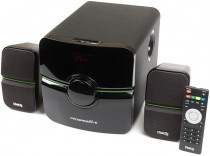 Акустическая система DIALOG Progressive - 2.1, 18W+2*10W RMS, USB+SD reader (AP-203 black)