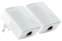 Powerline адаптер TP-LINK Powerline Ethernet , 500 Мбит/с, Fast Ethernet, 2 шт в комплекте (TL-PA4010KIT)