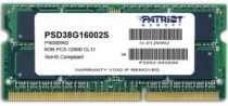 Память PATRIOT MEMORY SO-DIMM DDR3 8Gb (pc-12800) 1600MHz (PSD38G16002S)