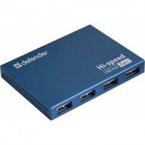 USB хаб DEFENDER USB 2.0 SEPTIMA SLIM (7 портов, БП 2A) (83505)