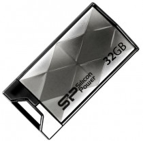 Флеш диск SILICON POWER 32GB,USB 2.0 Flash Drive,Touch850,Titanium (SP032GBUF2850V1T)