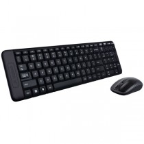 Клавиатура + мышь LOGITECH Wireless Desktop MK220 (USB, FM, keyboard:2xAAA, mouse:optical, 1000dpi, 3btn+Roll, 1xAA) RTL (920-003169)