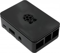 Корпус ACD Black ABS Plastic case with Logo for Raspberry Pi 3 (RA179)