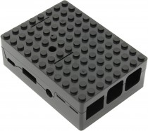 Корпус ACD Black ABS Plastic Building Block case for Raspberry Pi 3 (RA182)