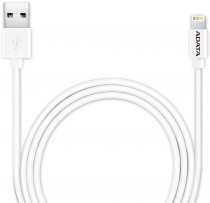 Кабель ADATA USB - Lightning, белый, 1м (AMFIPL-100CM-CWH)