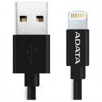 Кабель ADATA USB - Lightning, черный, 1м (AMFIPL-100CM-CBK)