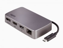 USB хаб ELGATO Thunderbolt 3 Mini Dock station, DisplayPort, HDMI, Gigabit Ethernet, 1xUSB Type-A 3.0, RTL (10DAB9901)