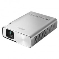 Проектор ASUS ZenBeam E1 DLP, LED, WVGA 854x480, 150Lm, 800:1, HDMI, MHL, 1x2W speaker, led 30000hrs, battery, Silver, 0.31kg (90LJ0080-B00520)