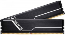 Память GIGABYTE 16GB DDR4 2666 DIMM Black Gaming Memory Non-ECC, CL16, 1.2V, Kit (2x8GB), RTL (GP-GR26C16S8K2HU416)